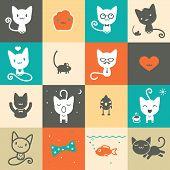 Set of colorful animal icons
