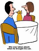 Cat Joins Dinner