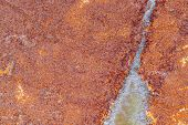 Metal Corroded Texture With Grungy Rusty Background