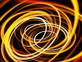 stock photo of fieri  - Beautiful bstract fiery circle on a black background - JPG