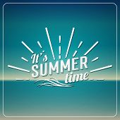pic of sunshine  - Retro elements for Summer calligraphic designs - JPG