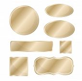 picture of hairline  - Blank metallic icon set bronze color template - JPG