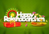 picture of pooja  - vector illustration of Happy Rakshabandhan wallpaper background - JPG