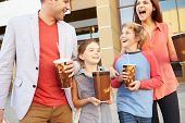 picture of 13 year old  - Family Standing Outside Cinema Together - JPG