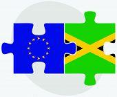 stock photo of jamaican flag  - Vector Image  - JPG