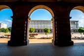 picture of neo-classic  - An architectural ensemble of three Socialist Classicism edifices in central Sofia - JPG