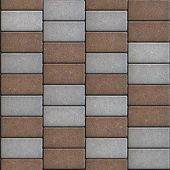 image of paving  - Brown  Paving Consisting of  Rectangles Laid Out in a Chaotic Manner - JPG