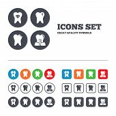 foto of tooth  - Dental care icons - JPG