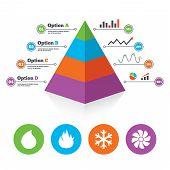 stock photo of hvac  - Pyramid chart template - JPG