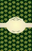picture of winterberry  - Xmas beige with holly pattern - JPG