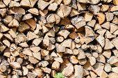 image of firewood  - Dry firewood  - JPG