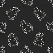 image of chinese zodiac  - Chinese Zodiac Cow Doodle Drawing - JPG