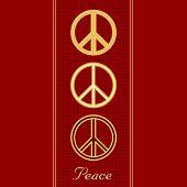 Golden Peace Symbols