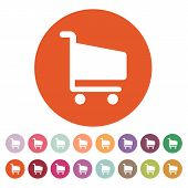 pic of cart  - The cart shoping icon - JPG