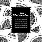 pic of watermelon slices  - Text frame - JPG