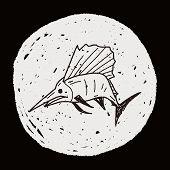 image of swordfish  - Swordfish Doodle - JPG