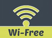 picture of fi  - Wireless connection advertising background with wi - JPG