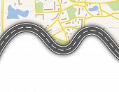 foto of gps navigation  - Abstract  gps navigation vector banner with map - JPG