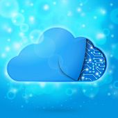 picture of microchips  - Cloud computing technology concept illustration - JPG