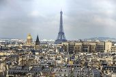 Paris Panorama. View From Cathedral Notre Dame De Paris. France. poster