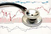 Stethoscope And Stock Chart
