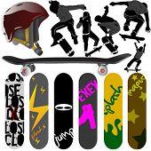 skateboard vector 3
