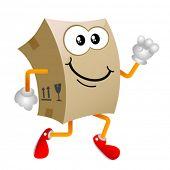 cardboard cartoon character vector 3