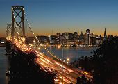 Bay Bridge And San Francisco At Dusk