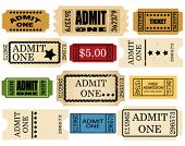 admit ticket one set