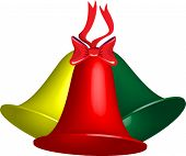 Trio of vector Christmas bells