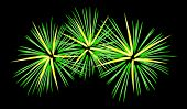 Vector graphic depicting a fireworks display
