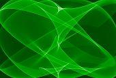 Mystical Green Art Abstract Graphic Wallpaper
