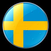 stock photo of sweden flag  - Sweden Flag icon Button  - JPG