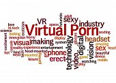 Virtual Porn, Word Cloud Concept 4 poster