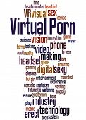 Virtual Porn, Word Cloud Concept 8 poster