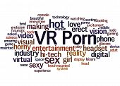 Vr Porn, Word Cloud Concept 7 poster