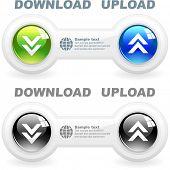 Download button set. Vector set for web.