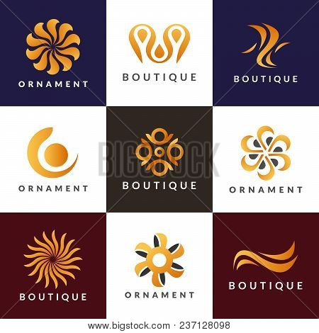Luxury Logo Set. A Collection Of Logos For Interior. Decoration
