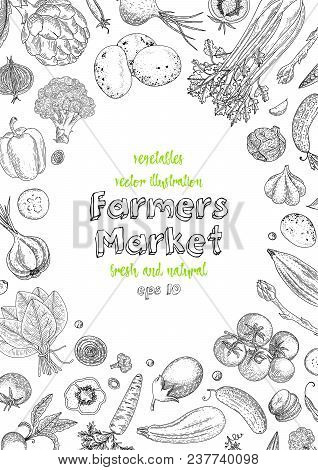 Farmers Market Menu Design Template