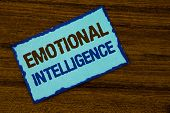 Text Sign Showing Emotional Intelligence. Conceptual Photo Capacity To Control And Be Aware Of Perso poster