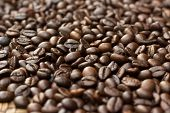 Coffee Bean,close-up Coffee Bean Select Focus,coffee Beans Stack Together poster