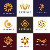 Luxury Logo Set. A Collection Of Logos For Interior. Decoration Logo. Interior Icon. Boutique Logo.  poster