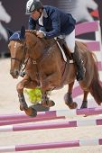 VALENCIA, SPAIN - MAY 7: Rider Jose Diaz Vecino, Horse Nivaquine D?As, Spain in the Global Champions
