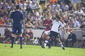 VALENCIA, SPAIN - SEPTEMBER 29, UEFA Champions League, Valencia C.F. vs Manchester United, Mestalla