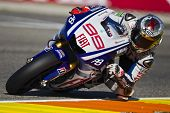 VALENCIA, SPAIN - NOVEMBER 6: Jorge Lorenzo in motogp Grand Prix of the Comunitat Valenciana, Ricard