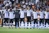 VALENCIA, Spanien - 10. APRIL: Valencia-Team in der spanischen Fußball-Liga zwischen Valencia c.f. VS V