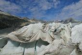 Rhone glacier ice cave cover