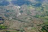 Aerial View Of The Suburb Of Orpington In The London Borough Of Bromley.  Viewed From A Plane On A S poster