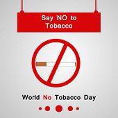 Illustration Of Lungs And Cigarette With World No Tobacco Day Say No To Tobacco Text On The Occasion poster