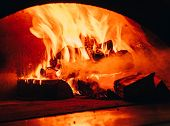 Fire Background. Beautiful Fire Close-up. Video. Burning Firewood In The Fireplace. Firewood Burn In poster